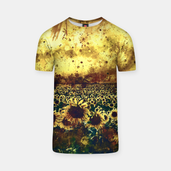 Miniature de image de abstract sunflowers wsfn T-shirt, Live Heroes