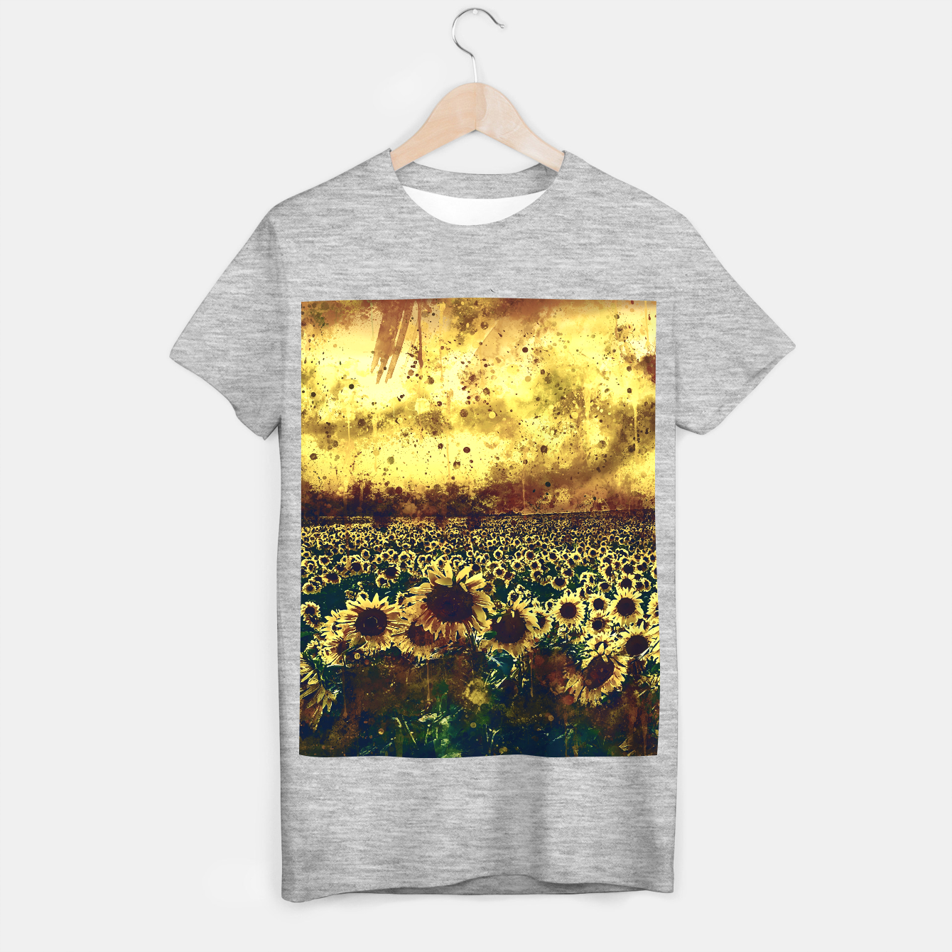 Image of abstract sunflowers wsfn T-shirt regular - Live Heroes