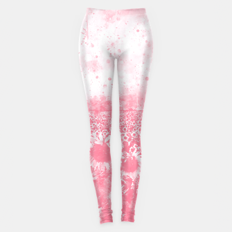 Miniature de image de abstract sunflowers wspw Leggings, Live Heroes