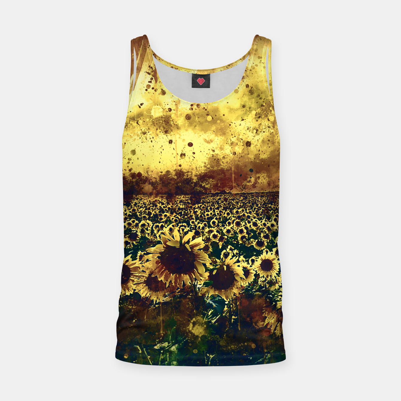 Image of abstract sunflowers wsfn Tank Top - Live Heroes