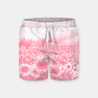 abstract sunflowers wspw Swim Shorts miniature