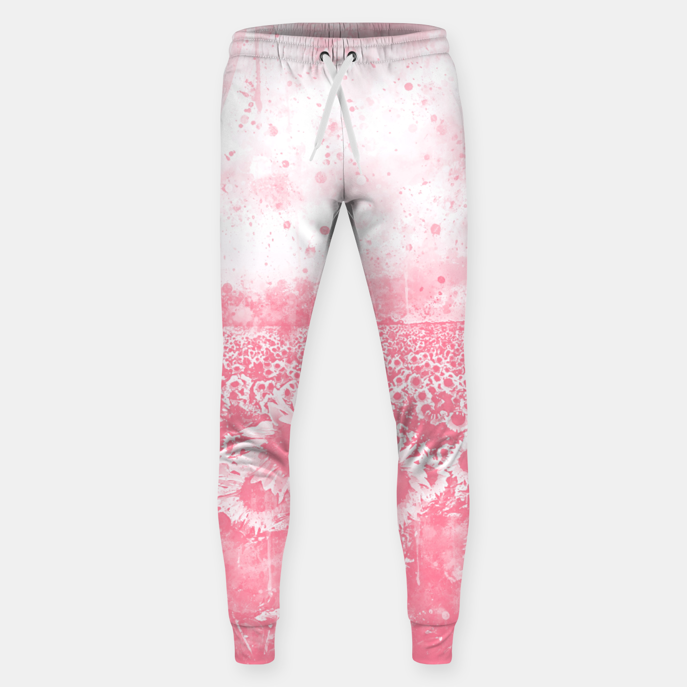 Image of abstract sunflowers wspw Sweatpants - Live Heroes