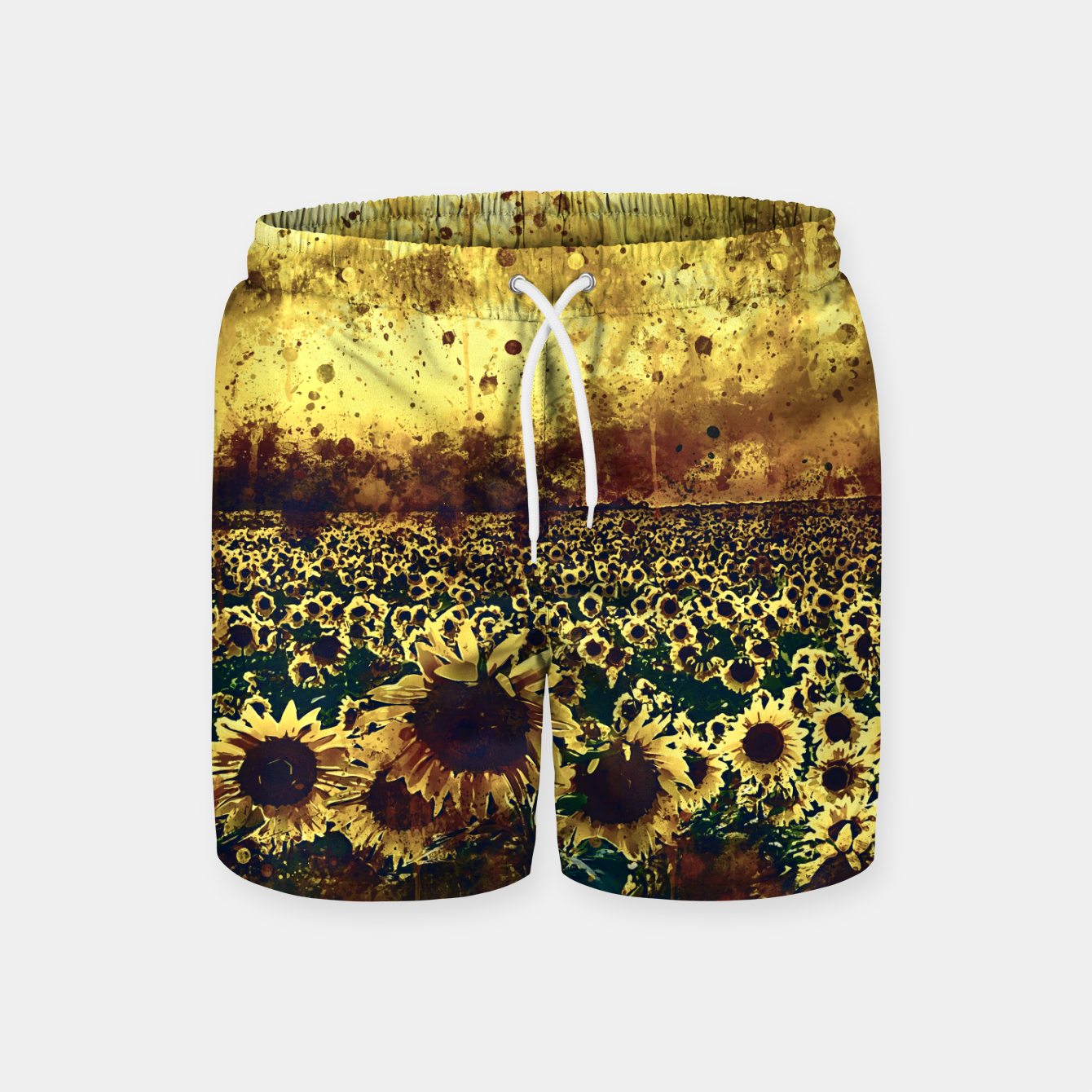 Image de abstract sunflowers wsfn Swim Shorts - Live Heroes