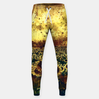 abstract sunflowers wsfn Sweatpants miniature