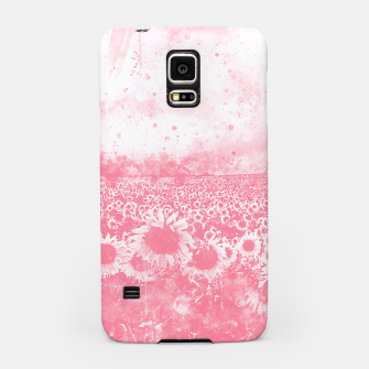 abstract sunflowers wspw Samsung Case miniature
