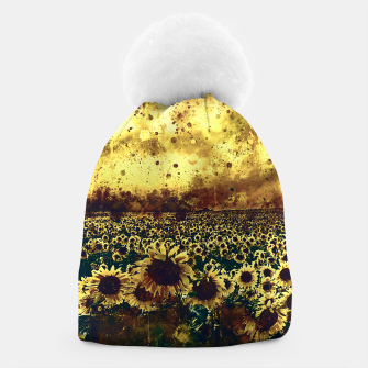 abstract sunflowers wsfn Beanie miniature