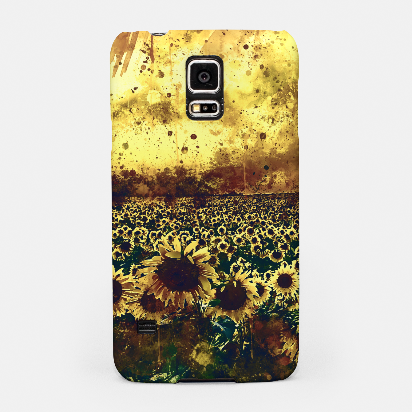 Image of abstract sunflowers wsfn Samsung Case - Live Heroes
