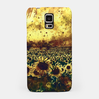 abstract sunflowers wsfn Samsung Case miniature