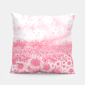 abstract sunflowers wspw Pillow miniature