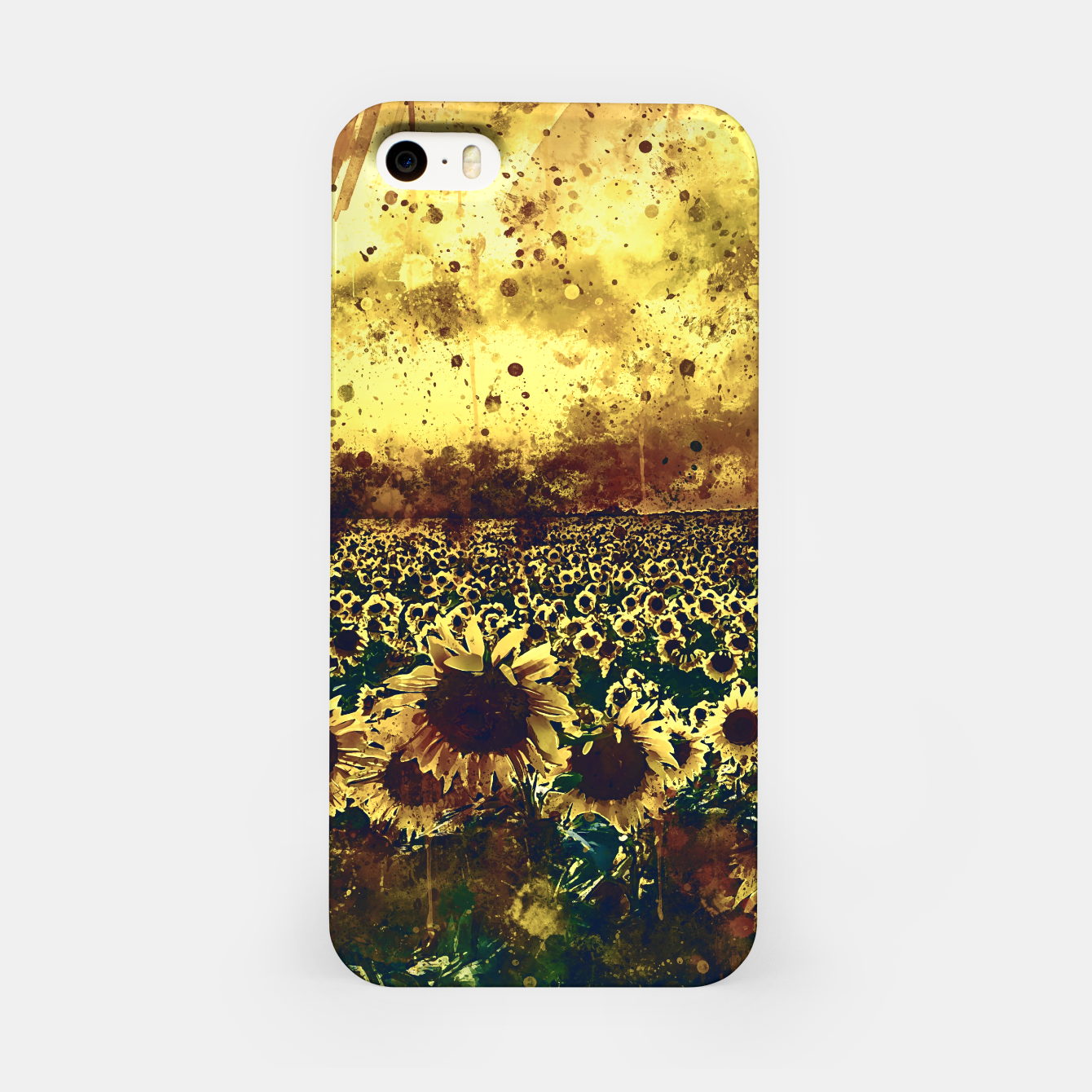 Image of abstract sunflowers wsfn iPhone Case - Live Heroes