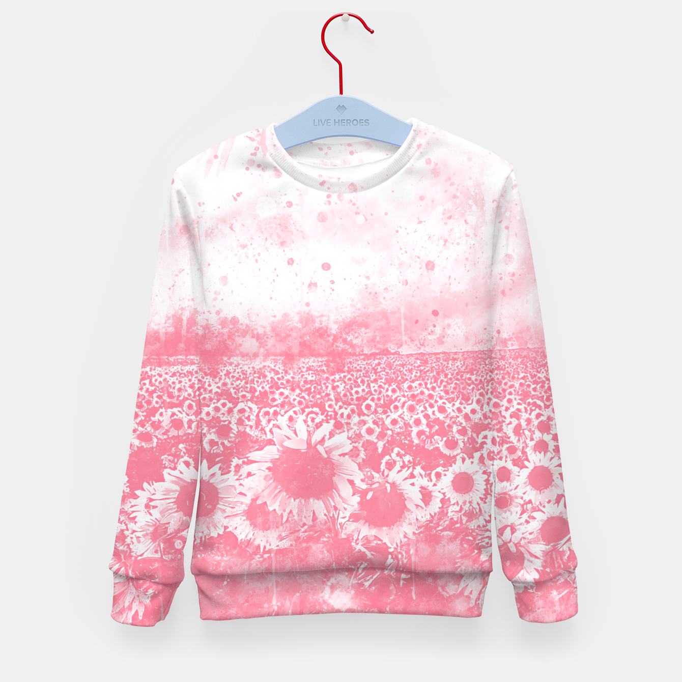 Image of abstract sunflowers wspw Kid's sweater - Live Heroes