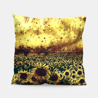 abstract sunflowers wsfn Pillow thumbnail image