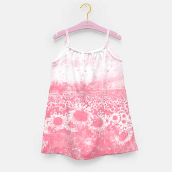abstract sunflowers wspw Girl's dress miniature