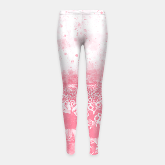 abstract sunflowers wspw Girl's leggings miniature