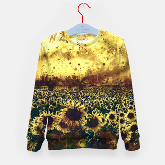 Miniature de image de abstract sunflowers wsfn Kid's sweater, Live Heroes