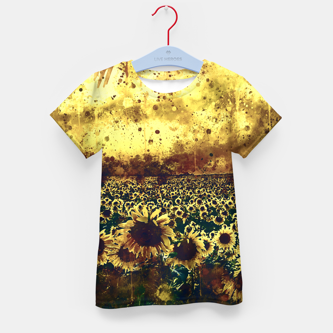 Image of abstract sunflowers wsfn Kid's t-shirt - Live Heroes