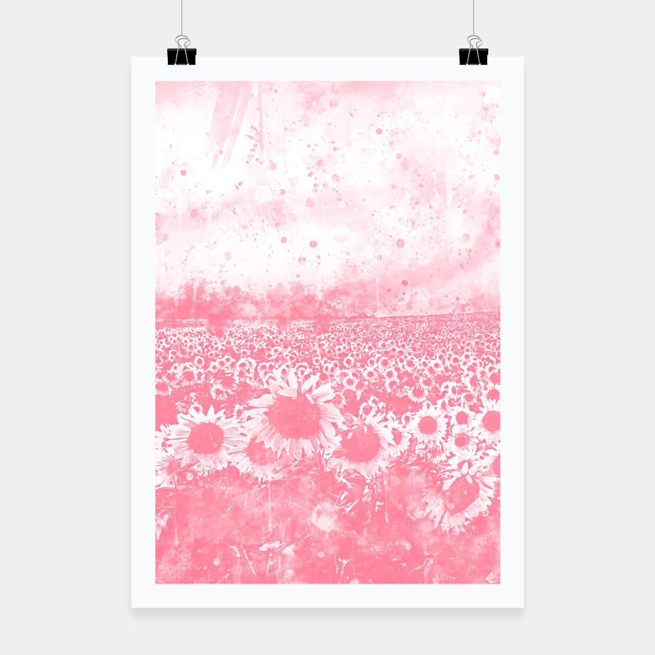Image de abstract sunflowers wspw Poster - Live Heroes