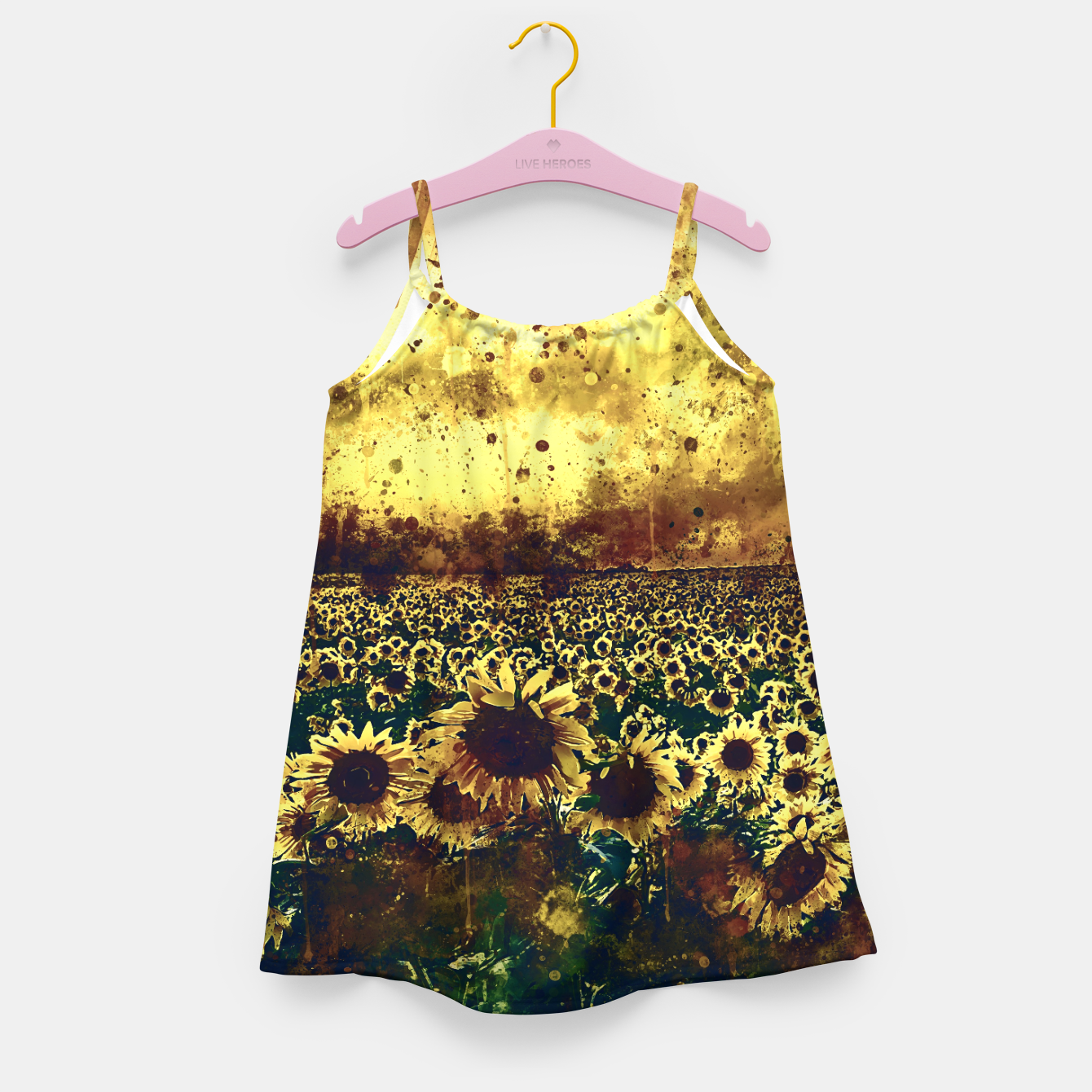 Image of abstract sunflowers wsfn Girl's dress - Live Heroes