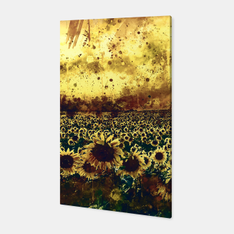 abstract sunflowers wsfn Canvas thumbnail image