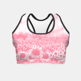 Miniature de image de abstract sunflowers wspw Crop Top, Live Heroes