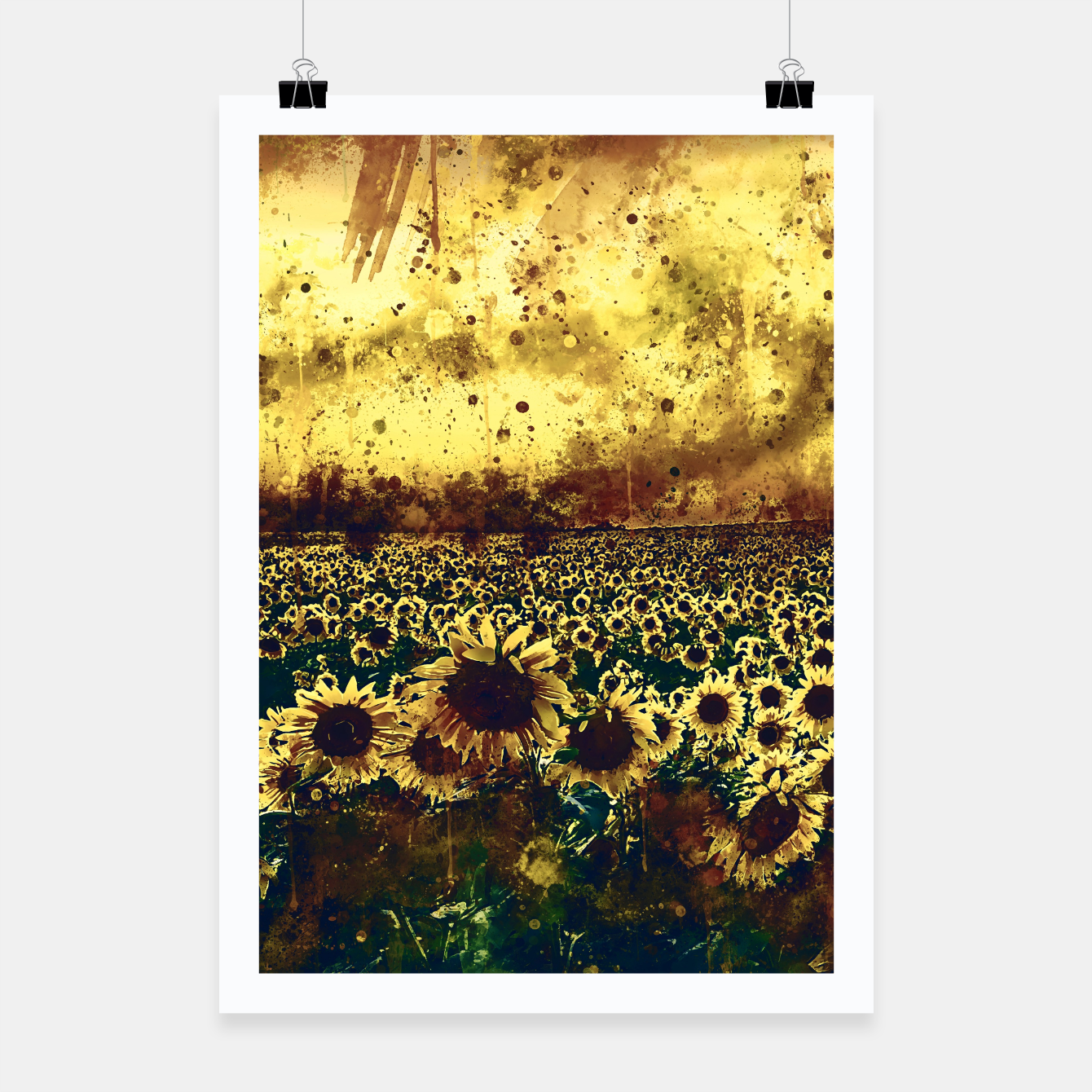 Image of abstract sunflowers wsfn Poster - Live Heroes
