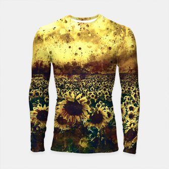 Thumbnail image of abstract sunflowers wsfn Longsleeve rashguard , Live Heroes