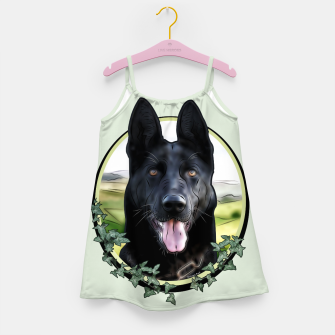 Thumbnail image of Black German Shepherd - Graphic Style Mädchenkleid, Live Heroes