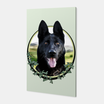 Thumbnail image of Black German Shepherd - Graphic Style Canvas, Live Heroes