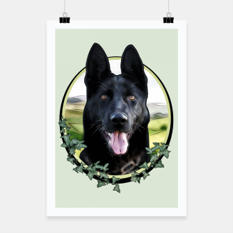 Thumbnail image of Black German Shepherd - Graphic Style Plakat, Live Heroes