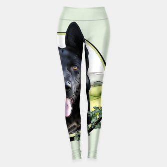 Thumbnail image of Black German Shepherd - Graphic Style Leggings, Live Heroes