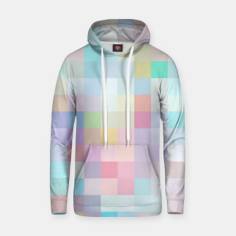 Thumbnail image of geometric square pixel pattern abstract in blue and pink Hoodie, Live Heroes