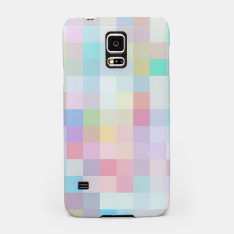 Thumbnail image of geometric square pixel pattern abstract in blue and pink Samsung Case, Live Heroes