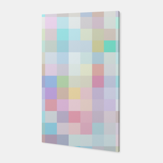 Thumbnail image of geometric square pixel pattern abstract in blue and pink Canvas, Live Heroes