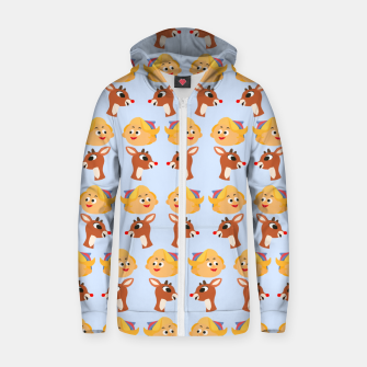 Thumbnail image of Rudolph The Red Nose Raindeer Zip up hoodie, Live Heroes