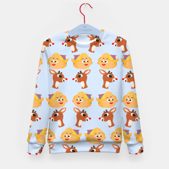 Thumbnail image of Rudolph The Red Nose Raindeer Kid's sweater, Live Heroes