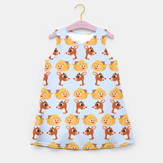 Thumbnail image of Rudolph The Red Nose Raindeer Girl's summer dress, Live Heroes
