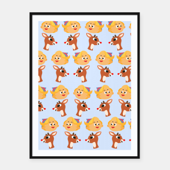 Thumbnail image of Rudolph The Red Nose Raindeer Framed poster, Live Heroes