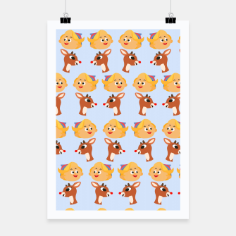 Thumbnail image of Rudolph The Red Nose Raindeer Poster, Live Heroes