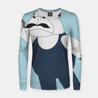 Thumbnail image of Drama Hippo Women sweater, Live Heroes