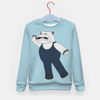 Thumbnail image of Drama Hippo Kid's sweater, Live Heroes