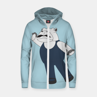 Thumbnail image of Drama Hippo Zip up hoodie, Live Heroes
