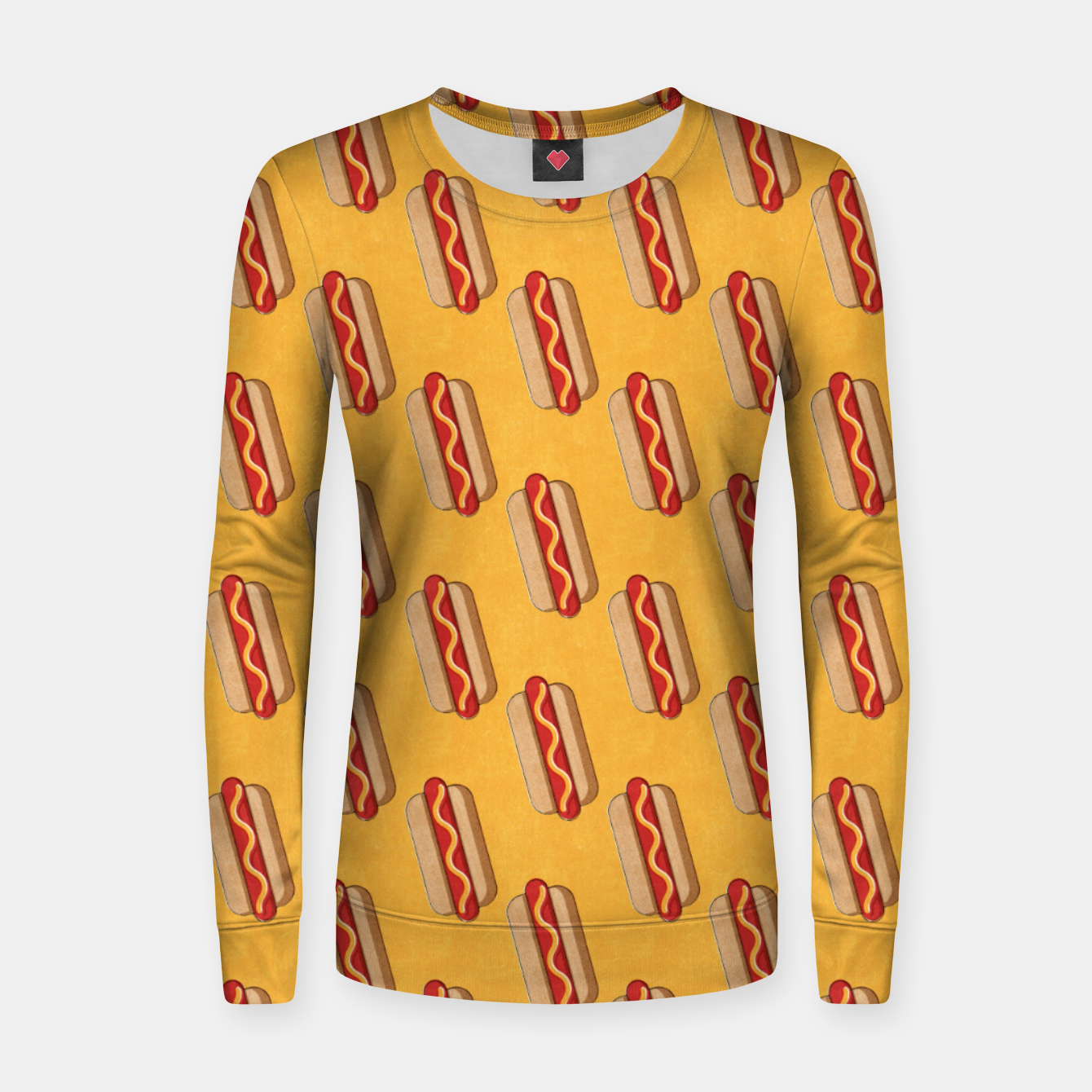 Image of FAST FOOD / Hot Dog - pattern Women sweater - Live Heroes