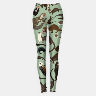 Thumbnail image of Otters of the world Leggings, Live Heroes