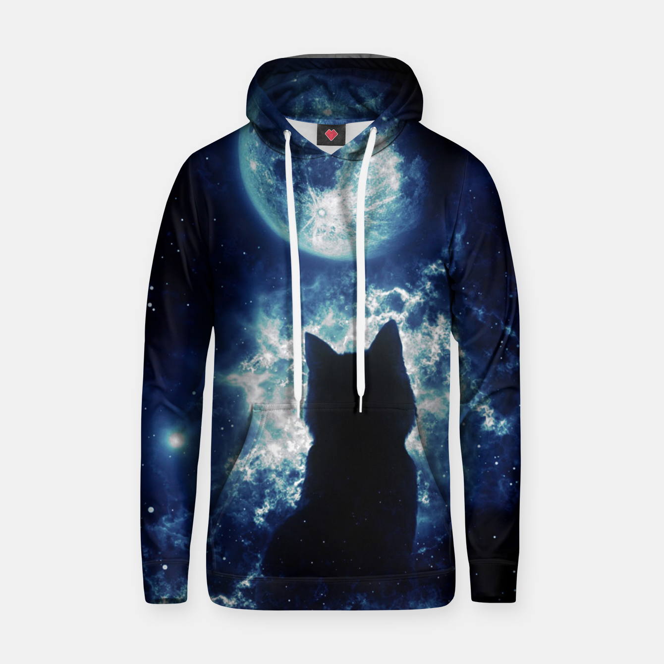 Image de Cat in Space Hoodie - Live Heroes