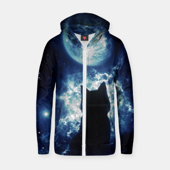 Cat in Space Zip up hoodie miniature