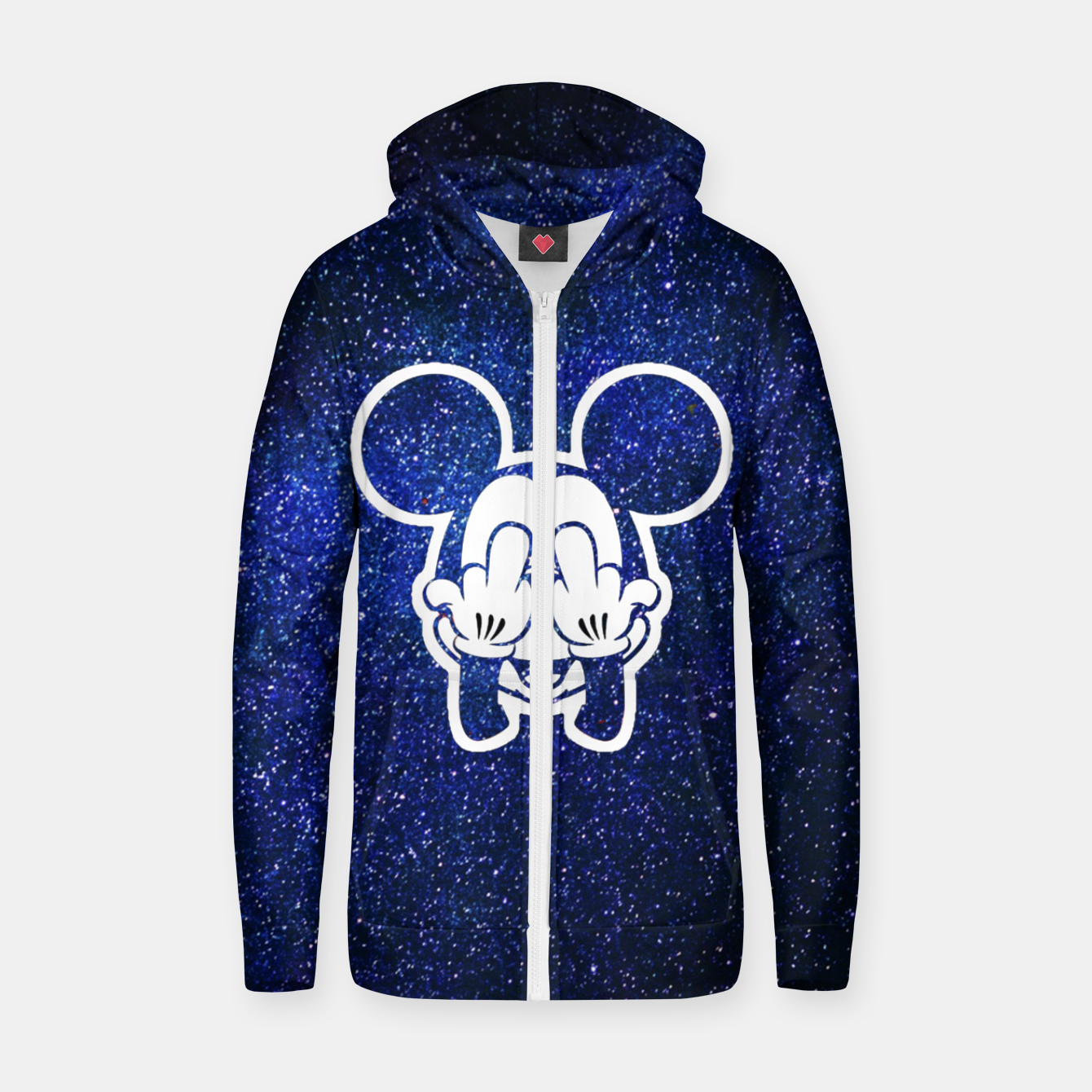 Image de Rebel Mickey Zip up hoodie - Live Heroes