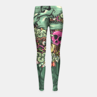 Miniatur Skul Hat Pattern Girl's leggings, Live Heroes