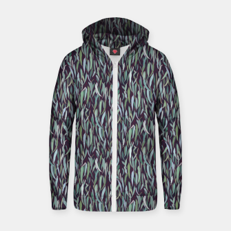 Thumbnail image of Evergreen Eucalyptus Forest Zip up hoodie, Live Heroes