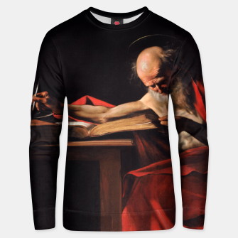 Thumbnail image of Saint Jerome Unisex sweater, Live Heroes