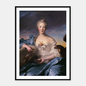Thumbnail image of Madame Le Fèvre de Caumartin as Hebe By Jean-Marc Nattier Framed poster, Live Heroes